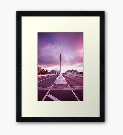 Samuel Beckett Bridge Framed Print
