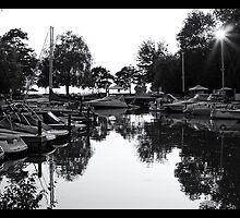 Bayfield Marina at Sunset by Wendy  Meder