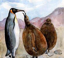 Penguins by Nataliya Stoyanova