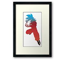 goku super saiyan god Framed Print