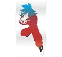 goku super saiyan god Poster