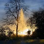 Sunset and Fountain - Marble Arch by Dave Godden