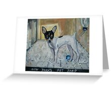 """""""dog from New York"""" Greeting Card"""