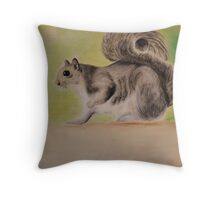 Morning Visitor Throw Pillow