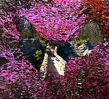 Rooster Floral Bridge by Wyldspace