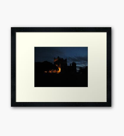 Wollaton  Hall by light Framed Print