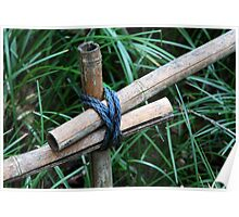 knotted bamboo Poster