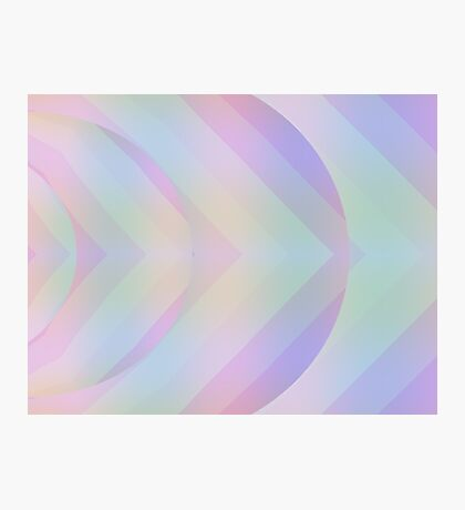 Pastel Geometry in Purple Photographic Print