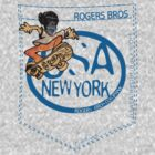 usa new york tshirt by rogers bros co by usaboston