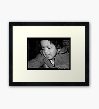 Unhappy With The Camera Framed Print