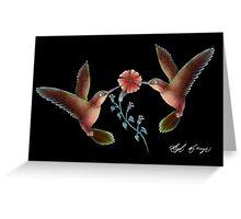 "Humming Birds ""Focus"" Greeting Card"
