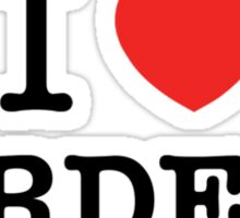 I Love BIRDERS Sticker
