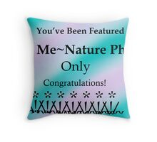 ID Me ~ Nature Photos Only Banner Challenge Throw Pillow