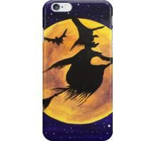 Yellow Moon Witch iPhone Case/Skin