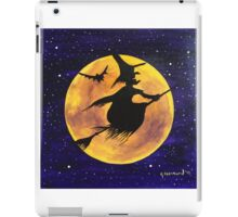Yellow Moon Witch iPad Case/Skin