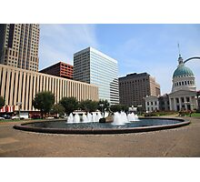 St. Louis - Fountain and Old Courthouse Photographic Print