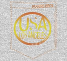 usa los angeles orange tshirt by rogers bros co by usala