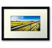 Upton Fields Framed Print