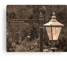 Gracious Old Sign and Lamp Canvas Print