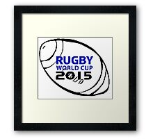 Rugby world cup 2015 Framed Print