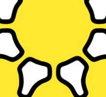 Glitch.Fm Logo - Yellow Sticker