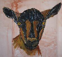 Oberhasli Dairy Goat by echoesofheaven