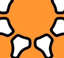 Glitch.Fm Logo - Orange Sticker