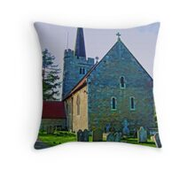 St, Margaret's of Barming Throw Pillow