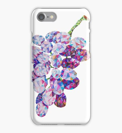 Low Poly Watercolor Grapes iPhone Case/Skin