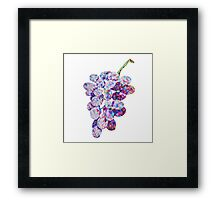 Low Poly Watercolor Grapes Framed Print
