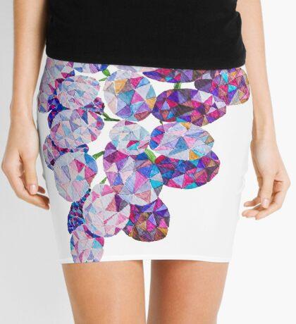 Low Poly Watercolor Grapes Mini Skirt