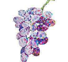Low Poly Watercolor Grapes by LidiaP