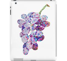 Low Poly Watercolor Grapes iPad Case/Skin