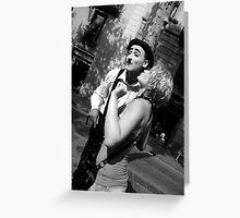 Kiss Mr.Chaplin Greeting Card