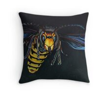 Japanese Hornet Throw Pillow