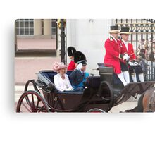 Prince William Saluting with Camilla. Metal Print