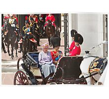 The Queen with Prince Phillip & Princess Anne Poster