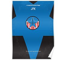 No111 My JFK minimal movie poster Poster