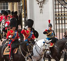 Prince Charles & Princess Anne on horseback again by Keith Larby