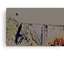 stylized #BixbyBridge Canvas Print