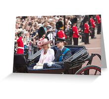 Prince William with Camilla Greeting Card