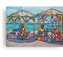 Caribbean Bag Sellers Canvas Print