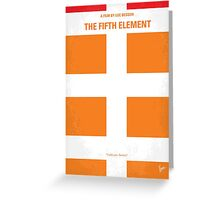 No112 My Fifth Element minimal movie poster Greeting Card