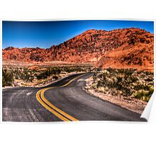 Sinuous road Poster