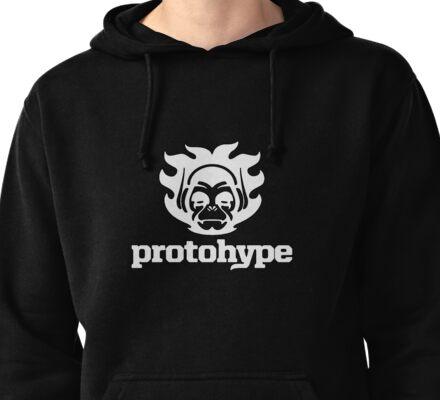 Protohype Logo - White Pullover Hoodie