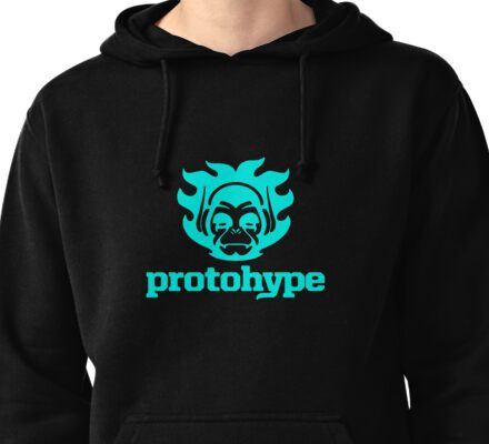 Protohype Logo - Blue Pullover Hoodie
