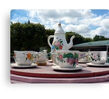 The mad tea party Canvas Print