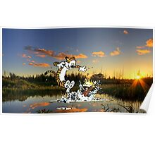 Calvin & Hobbes In The Pond Poster