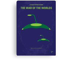No118 My WAR OF THE WORLDS minimal movie poster Canvas Print