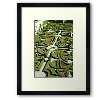 The  love garden, Chateau Villandry, Loire Valley Framed Print